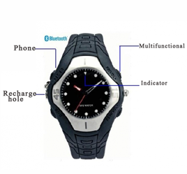 Spy Bluetooth Watch Earpiece